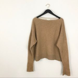 Club Monaco Large Donah Cashmere Sweater camel